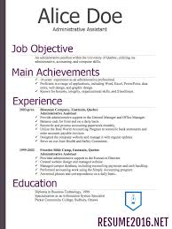 Resume Examples 2016 Chronological Resume Format 60 What's new 30