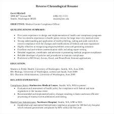 Chronological Resume Format Samples Examples Of The Chronological ...