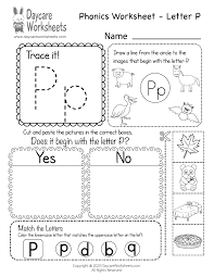 Phonics worksheets and online activities. Free Letter P Phonics Worksheet For Preschool Beginning Sounds