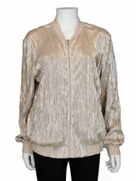 Details About Inc International Concepts Size Xl Metallic Pleated Bomber Jacket Silver