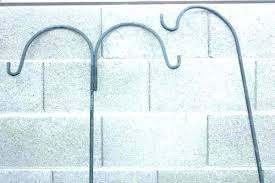 free standing shepherd hooks with base heavy duty hook wrought iron outdoor plant hangers shepards shepherds