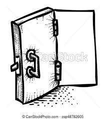 cartoon image of door icon open door symbol an artistic freehand picture