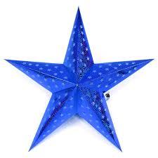 Papierstern 3d 10 Led Blau Weihnachtsstern Faltstern