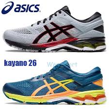 2019 Designer Asics Gel Kayano 26 Men Running Shoes Top Quality Dark Grey Blue Training Shoes Sport Cushion Sneakers Size 40 5 45 From Wegosport
