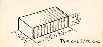 size of a brick brick driveway image brick dimensions standard