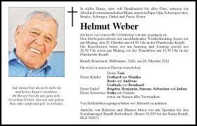 Traueranzeige Von Helmut Weber Vom 29102012