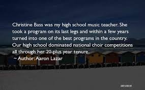 Choir directors must perform a balancing act of sorts when interacting with the vocal ensemble. Top 65 Quotes Sayings About Choir Music