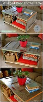 diy door coffee table repurpose old door into coffeetable instruction