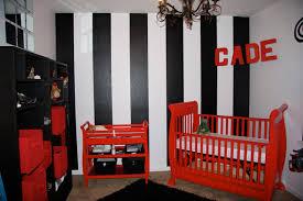 black white red baby nursery