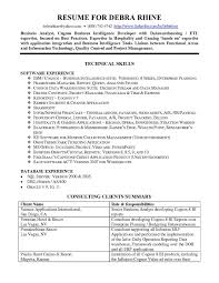 Resume Examples Business Intelligence Augustais With Business