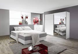 Schlafzimmer Komplett Set Weiss Mit Boxspringbett 180x200cm