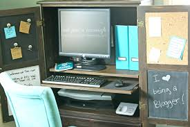 Desk Armoire Furniture Turned Computer Cabinet Computer Armoire