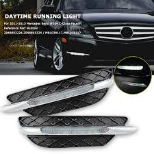 2013 Mercedes C250 Daytime Running Lights Details About Pair Led Drl Daytime Running Light For Mercedes Benz W204 C250 C300 C350 2011 13