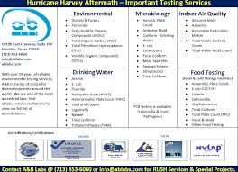 Updated Information Hurricane Harvey Aftermath Important Testing