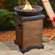 propane fire column peaktop outdoor wood trim propane gas fire column reviews wayfair