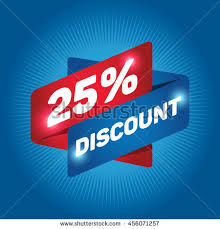 Image result for 25 discount logo