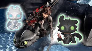 Light Fury And Toothless Baby How To Train Your Dragon 3 Funko Pop Of Toothless Light