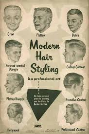 Barber Hairstyles Chart Get A Haircut Hippie This 1950s Barber Shop Style Chart