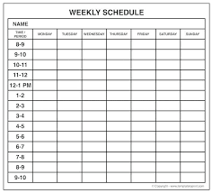 Online Weekly Planner Maker Google Schedule Maker