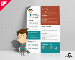 Download Free Designer Resume Template Psd Psddaddy Creative Resume