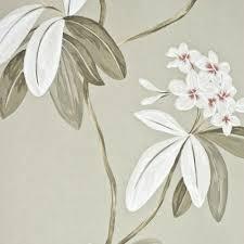 oleander fl wallpaper pewter