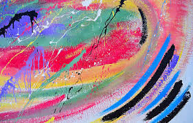 Wallpaper colorful, art, splashes ...
