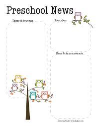 Preschool Newsletter Template Fascinating Weekly Newsletter Template Preschool Dermac