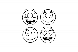 The clip art image is transparent background and png format which can be. Hand Drawn Smiley Faces Collection Graphic By Muhammad Rizky Klinsman Creative Fabrica