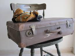 Antique old Vintage suitcase luggage 1930's brown travel decor travel bag  retro home ...