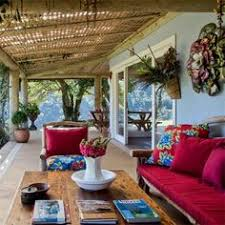 High Quality Awesome Eco And Ethnic Style House In Brazil : Eco And Ethnic Style House  In Brazil With White Wall Wooden Beams Red Sofa Pillow Chair Table Flower  Glass ...