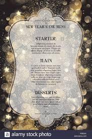 New Year Menu Decorative Menu Design For New Years Eve Stock Photo