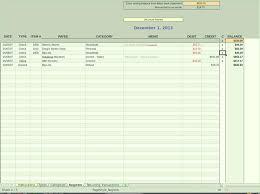 Check Register Spreadsheet Template Online Checkbook Ledger Free