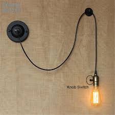 decor wall lights bedside reading studying diy art decor industrial wall lights luminaire knob switch loft