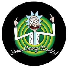 Rick and Morty Pop-Grip: Peace Rick Pop-Grip – Popgrip