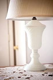 milk glass lamps vintage diamond hobnail milk glass lamp by on finds milk glass glass and