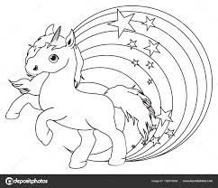 Kleurplaat Unicorn