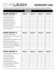 Workout Log Sheets Mesmerizing Image Result For Chalean Extreme Workout Sheets Fitness Healthy