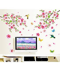 Small Picture Buy Decals Design Flowers Branch Wall Sticker PVC Vinyl 60 cm