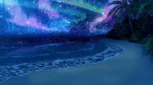 night anime scenery wallpaper. Perfect Wallpaper Beach Scenery At Night Wallpaper Inside Anime Wallpaper L