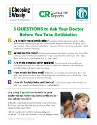 five questions to ask your doctor about antibiotics small posters five questions to ask your doctor about antibiotics small posters for children