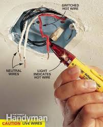 wiring diagram for ceiling light fixture readingrat net Wiring Diagram For Light Fixture how to hang a ceiling light fixture the family handyman,wiring diagram, wiring wiring diagram for light fixture with switch