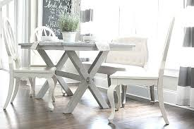 light and bright love the base of this farmhouse table perfect in gray tones