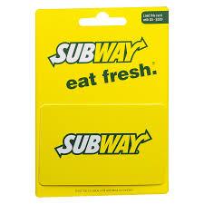 subway non denominational gift card1 0 ea
