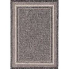 outdoor border black 7 x 10 rug