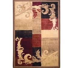 home dynamix catalina light brown red area rug designs
