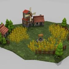 Farm Design Model Village And Farm Design Cgtrader