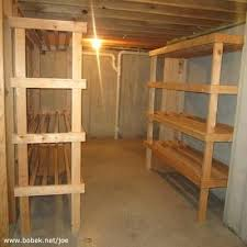 completed pair of empty shelves in the basement 2x4 shelving brackets home depot