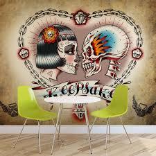 Fototapeta Tetování Lebka V Srdci