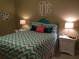 Teal Bedroom My New Teal And Coral Room Pottery Barn Teen Chevron Duvet With