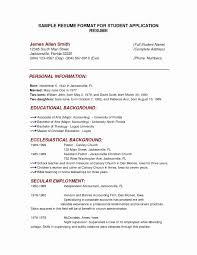 Resume Style Examples School Resume Template Beautiful Full Block Resume Format Style For 5